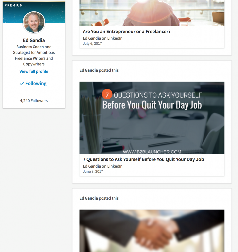 LinkedIn Article Example [image]